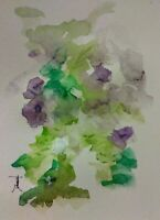 Original Floral 9x12 Hand Painting