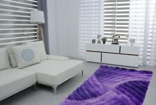 Swirls 3D Carved Modern Luxury Silky Soft Floor Rug Mat Livining Room Bedroom