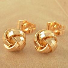 Womens Ball Earrings 14K Solid Gold Filled Love-Knot Stud Earrings Lot Jewelry
