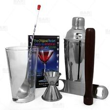 Home Bar Med Gift Starter Tool Kit for Patio Bartender Entertainment Drinks