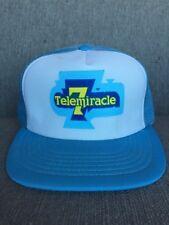 Vtg Kinsmen Telemiracle 1983 Mesh Snap Back Hat 80's Canada Saskatchewan SK