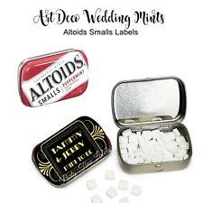Art Deco Wedding Favors, Gatsby, 20s style Mini Altoid Tin Stickers, 48 Labels