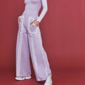adidas Originals Women's X Ji Won Choi Mixed Stripe Wide Leg Track Pants