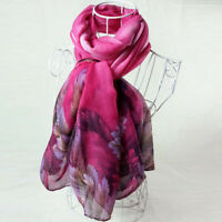 Lady Print Long Soft Paris Yarn Scarf Wrap Shawl Stole Pashmina Scarves Bandana