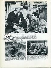 PAT BUTTRAM ACTOR IN GREEN ACRES / GENE AUTRY COSTAR SIGNED PHOTO PAGE AUTOGRAPH