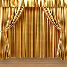 8x8FT Vinyl Photo Backdrops Golden Stage Curtain  Photography Background