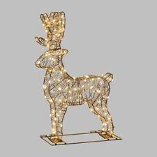Renna Natale Luminosa in 3D ,140 microled bianco caldo h60cm anche x esterno