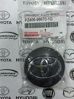 Genuine Toyota Yaris Hybrid 'Podium' Alloy Anthracite Centre Cap PZ406-98670-1G