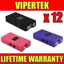 (12) VIPERTEK VTS-880 90 MV Mini Stun Gun 3 Colors Mix - Wholesale Lot