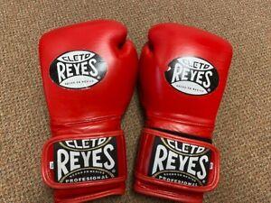 Cleto Reye red leather 14oz Sparring gloves