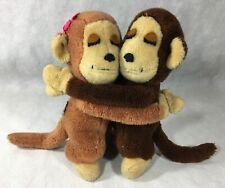 R. Dakin & Co 1976 Monkeys Stuffed Animals Boy Girl Hugging Vintage