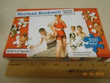 New sealed 500 piece Norman Rockwell puzzle : Cousin Reginald Goes Swimming 1917
