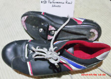 Performance Bike Cycling Shoes Road Track Sz 9 Black, Quill Cleats