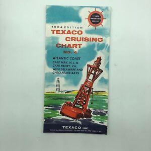 Atlantic Coast - Texaco Cruising Chart No. 4 - 1964