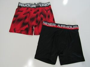 Under Armour Boys 2 Pack Boxerjock Boxer Brief New