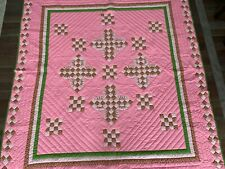 ABSOLUTE STUNNER 1977 Master Quilter SIGNED Pink OKLAHOMA DOGWOOD Hand Stitched