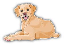 Labrador Retriever Young Dog Car Bumper Sticker Decal 5'' x 3''