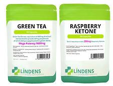 60 chetone del lampone e 60 estratto di tè verde 9000mg Dieta Perdita Peso Dimagranti Pack