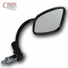 BSA A7 A10 A50 A65 B44 B50 RETRO LOOKING BLACK BAR END MIRROR