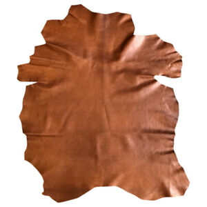 Cognac Craft Leather Hide Soft Lambskin Fabric Upholstery Material Supply 882#67