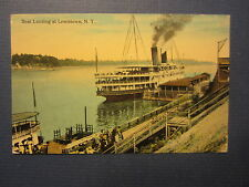 Old Vintage 1915 Boat Landing at LEWISTOWN N.Y. - Steamship POSTCARD