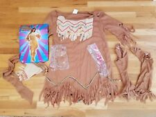 native american maiden halloween costume for adults up to size 14/16 indian