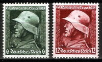 DR Nazi 3rd Reich Rare WW2 Stamp Hitler Helmet Hero Day Memory Batle Signature