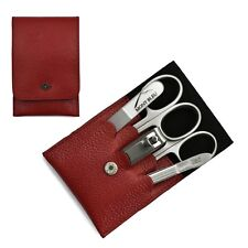 Giesen & Forsthoff Timor 5-piece Premium Manicure Set in Red Leather Case