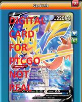 DIGITAL Zacian V Full Art pokemon tcg online