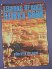 Kerrang! - Legends of Rock - Unused Stikka Book - Sticker Album
