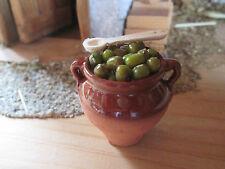 Krippenzubehör - Tonkrug mit Oliven zum Stellen - Neu !!
