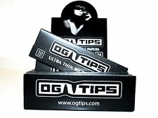 24 Packs  OGTiPS Organic 1 1/4 Rolling Cigarette Paper - Ultra Thin Rice Paper