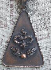 Trifari Vintage Copper Color Necklace Triangular snake Pendant