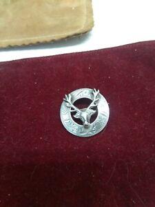Sterling Silver Stag Brooch
