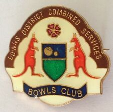 Downs District Combined Bowling Club Badge Coat Of Arms Rare Vintage (L9)