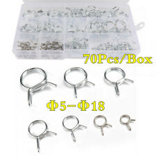 Stainless Steel Car Double Wire Fuel Line Hose Tube Spring Clamps Clips Φ5-Φ18