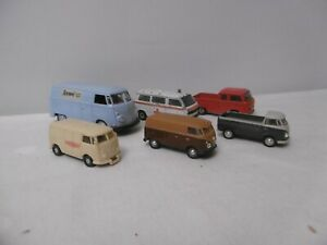 SAMMLUNG : 6 ältere Modelle - VW Transporter T1 - T2 - T3 - SIKU, SCHUCO usw..