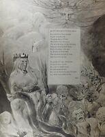 1922 Completo Talla William Blake Grande Estampado Thomas GRAY'S Poem Oda