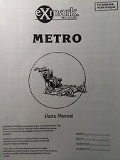 Exmark Metro Walk Beh Commercial Lawn Mower Parts Manual 48 36 52 90000 101999