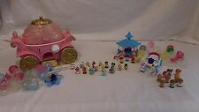 Squinkies Cinderella Carriage Case and Disney Figure Lot Princess Prince + Horse