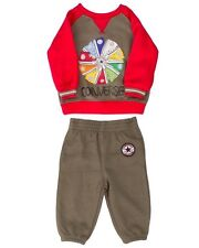 Converse All Star Infant 2 Piece Set Boys Grey & Red Age 2 Years