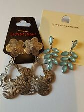 2 pairs new earrings for pierced ears. Dorothy perkins and other.