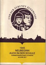 Chronik=1945 Neubeginn auch in der Schule Freiberg i. Sa./b.Chemnitz/Dresden/...