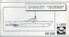 "PLANET MODELS NS009 - U-BOOT ""BIBER"" - 1/200 RESIN KIT"