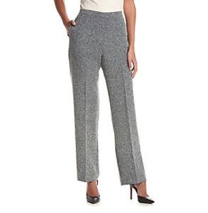 NEW-Alfred Dunner® Wrap It Up Short Herringbone Pants, SZ 8, BLACK/WHITE