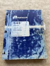 Fiat Allis 645 Wheel Loader Parts Manual