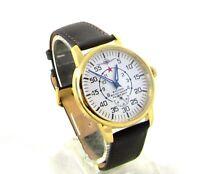 Pobeda Air Aviation mens Vintage wrist watch 1960s USSR Serviced Gift for men