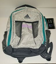 ADIDAS Atkins Backpack Boys Girls Children Unisex School Bag White Gray Green