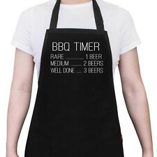 BEER TIMER Mens BBQ Cook Apron Funny Gift Cook Chef Aprons