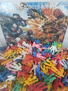 Vintage Gumball Prizes Rubber War-Bot-Transformers Figures 1980s Lot of 6 NOS